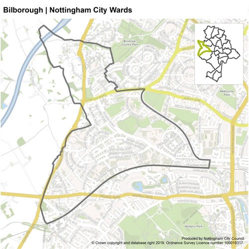 Bilborough Ward Map