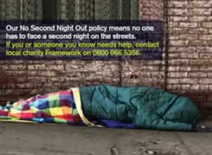 Help for rough sleepers in Nottingham