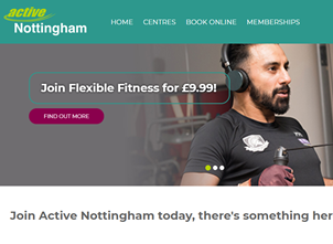 New 'Active Nottingham' Website