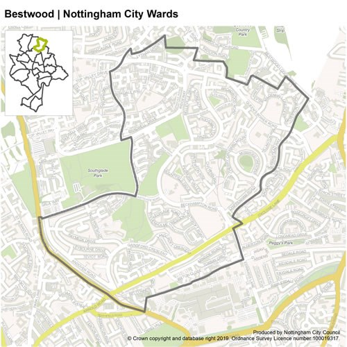 Bestwood Ward Map