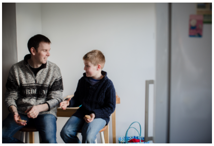 Nottingham Fostering Carer With Boy