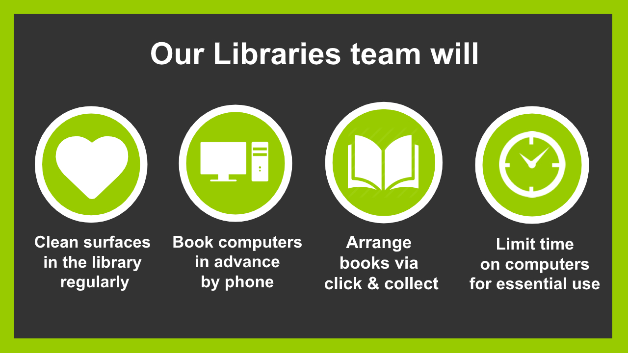 our libraries team will