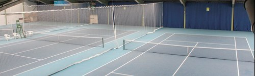 Indoor tennis courts at NTC
